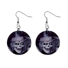 Hatbox Ghost Mini Button Earrings