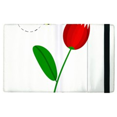 Red Tulip And Bee Apple Ipad 2 Flip Case