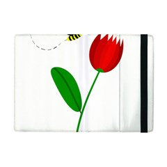Red Tulip And Bee Apple Ipad Mini Flip Case by Valentinaart