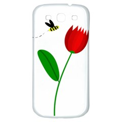 Red Tulip And Bee Samsung Galaxy S3 S Iii Classic Hardshell Back Case by Valentinaart