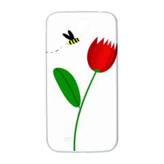 Red Tulip And Bee Samsung Galaxy S4 I9500/i9505  Hardshell Back Case by Valentinaart