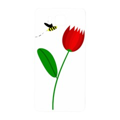 Red Tulip And Bee Samsung Galaxy Alpha Hardshell Back Case by Valentinaart