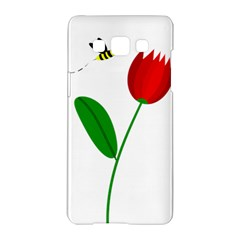 Red Tulip And Bee Samsung Galaxy A5 Hardshell Case  by Valentinaart