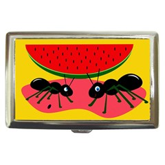 Ants And Watermelon  Cigarette Money Cases by Valentinaart