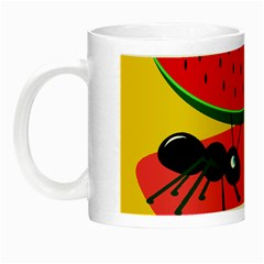 Ants And Watermelon  Night Luminous Mugs by Valentinaart