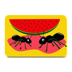 Ants And Watermelon  Plate Mats by Valentinaart