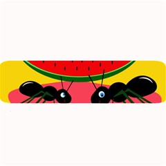 Ants And Watermelon  Large Bar Mats by Valentinaart