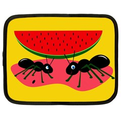 Ants And Watermelon  Netbook Case (xl)  by Valentinaart