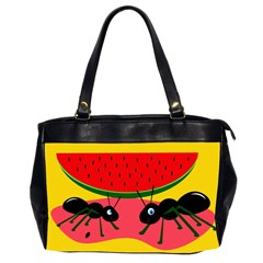 Ants And Watermelon  Office Handbags (2 Sides)  by Valentinaart