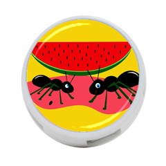 Ants And Watermelon  4 Port Usb Hub (two Sides)  by Valentinaart