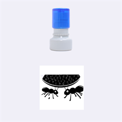 Ants And Watermelon  Rubber Round Stamps (small) by Valentinaart