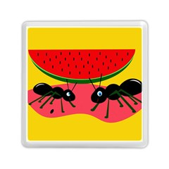 Ants And Watermelon  Memory Card Reader (square)  by Valentinaart