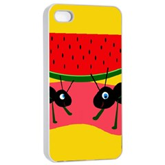 Ants And Watermelon  Apple Iphone 4/4s Seamless Case (white) by Valentinaart