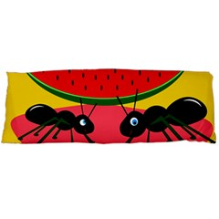 Ants And Watermelon  Body Pillow Case Dakimakura (two Sides) by Valentinaart