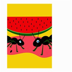 Ants And Watermelon  Small Garden Flag (two Sides) by Valentinaart
