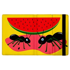 Ants And Watermelon  Apple Ipad 2 Flip Case by Valentinaart