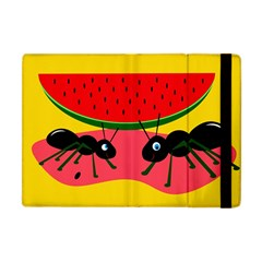 Ants And Watermelon  Apple Ipad Mini Flip Case by Valentinaart