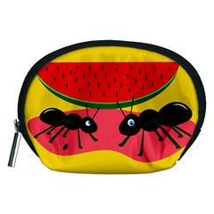 Ants And Watermelon  Accessory Pouches (medium)  by Valentinaart