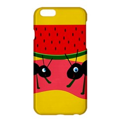 Ants And Watermelon  Apple Iphone 6 Plus/6s Plus Hardshell Case by Valentinaart