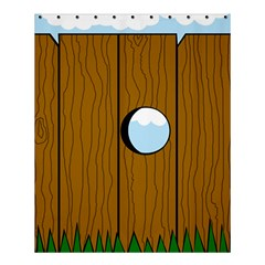 Over The Fence  Shower Curtain 60  X 72  (medium)  by Valentinaart