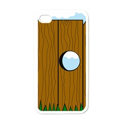 Over The Fence  Apple Iphone 4 Case (white) by Valentinaart