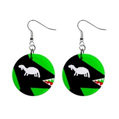 Wolf And Sheep Mini Button Earrings by Valentinaart