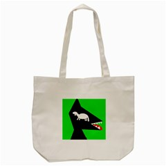 Wolf And Sheep Tote Bag (cream) by Valentinaart