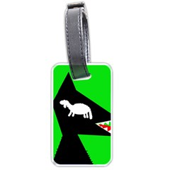 Wolf And Sheep Luggage Tags (one Side)  by Valentinaart