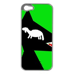 Wolf And Sheep Apple Iphone 5 Case (silver) by Valentinaart