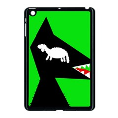 Wolf And Sheep Apple Ipad Mini Case (black) by Valentinaart