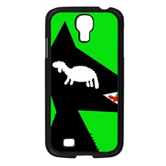 Wolf And Sheep Samsung Galaxy S4 I9500/ I9505 Case (black) by Valentinaart
