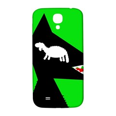 Wolf And Sheep Samsung Galaxy S4 I9500/i9505  Hardshell Back Case by Valentinaart