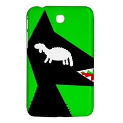 Wolf And Sheep Samsung Galaxy Tab 3 (7 ) P3200 Hardshell Case  by Valentinaart