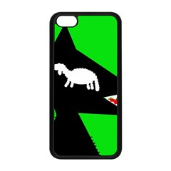 Wolf And Sheep Apple Iphone 5c Seamless Case (black) by Valentinaart