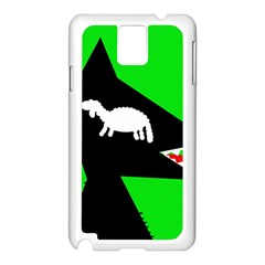 Wolf And Sheep Samsung Galaxy Note 3 N9005 Case (white) by Valentinaart