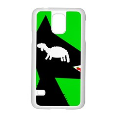 Wolf And Sheep Samsung Galaxy S5 Case (white) by Valentinaart