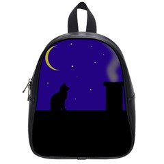 Cat On The Roof  School Bags (small)  by Valentinaart