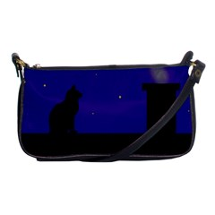 Cat On The Roof  Shoulder Clutch Bags by Valentinaart
