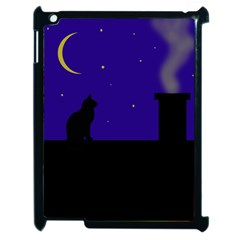 Cat On The Roof  Apple Ipad 2 Case (black) by Valentinaart