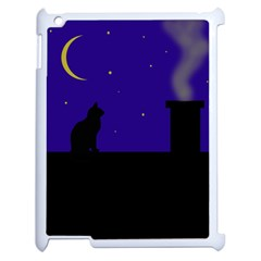 Cat On The Roof  Apple Ipad 2 Case (white) by Valentinaart
