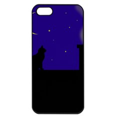 Cat On The Roof  Apple Iphone 5 Seamless Case (black) by Valentinaart