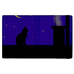 Cat On The Roof  Apple Ipad 3/4 Flip Case by Valentinaart