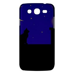 Cat On The Roof  Samsung Galaxy Mega 5 8 I9152 Hardshell Case  by Valentinaart