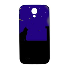 Cat On The Roof  Samsung Galaxy S4 I9500/i9505  Hardshell Back Case by Valentinaart