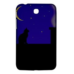 Cat On The Roof  Samsung Galaxy Tab 3 (7 ) P3200 Hardshell Case  by Valentinaart
