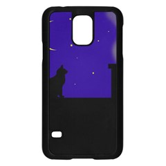 Cat On The Roof  Samsung Galaxy S5 Case (black) by Valentinaart