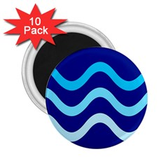 Blue Waves  2 25  Magnets (10 Pack)  by Valentinaart