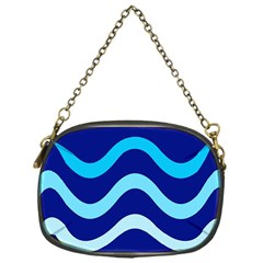 Blue Waves  Chain Purses (one Side)  by Valentinaart