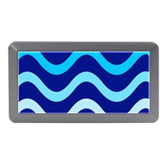 Blue Waves  Memory Card Reader (mini) by Valentinaart