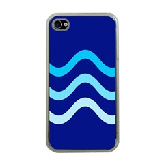 Blue Waves  Apple Iphone 4 Case (clear) by Valentinaart
